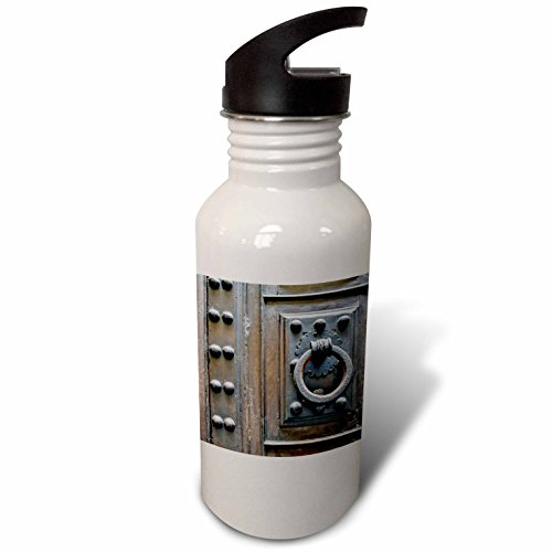 3dRose Danita Delimont - Architecture - Italy, Florence, Door Knocker - Flip Straw 21oz Water Bottle (wb_277598_2) by 3dRose