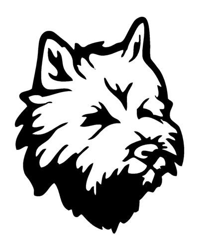 Cairn Terrier Head Decal Sticker - Peel and Stick Sticker Graphic - - Auto, Wall, Laptop, Cell, Truck Sticker for Windows, Cars, Trucks