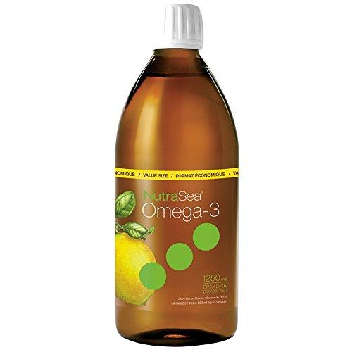 Ascenta Health - NutraSea Balanced EPA & DHA Omega 3 Supplement Lemon Flavor - 500 ml. 1250mg EPA + DHA per teaspoon
