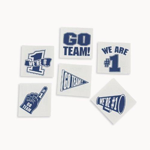 Blue Go Team Tattoos (6 dz) (Blue Team)