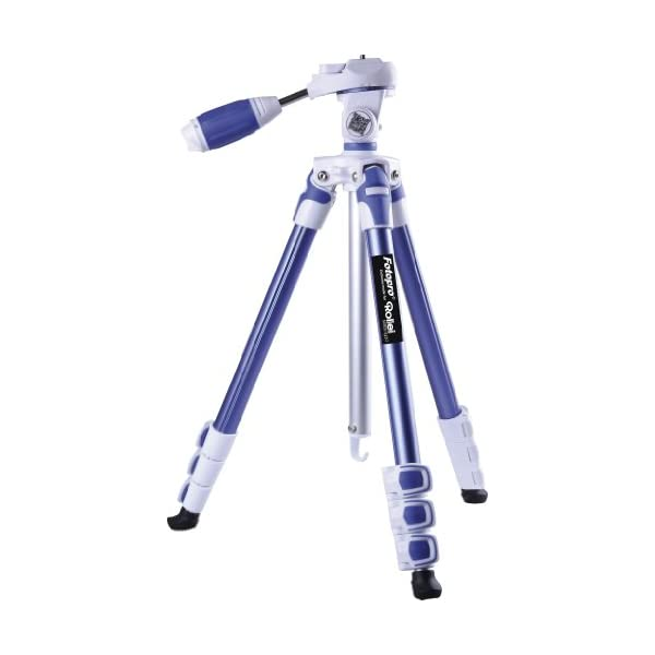 RetinaPix Fotopro S3 4-Section 57 Inch Aluminum Photo & Video Tripod with 3 Way Panhead Payload - 2.5kg (Blue)