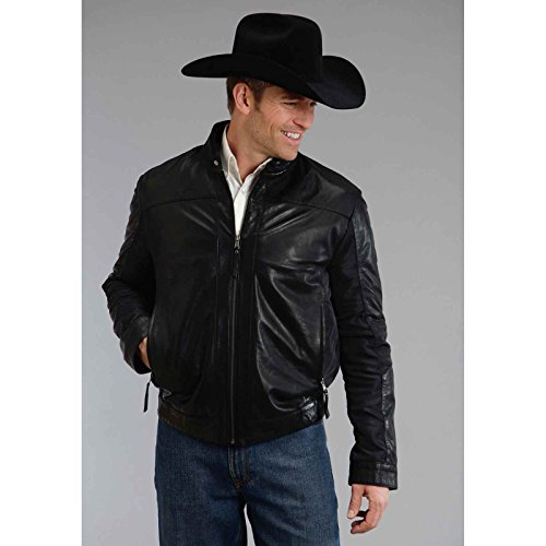 Black Smooth Leather Jacket Stetson Men146s Collection-outerwear (xl) - Collection Xl Stetson