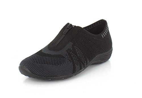 para Mujer charcoal Skechers Unity Entrenadores Transcend Black Negro t4nxqHaBx