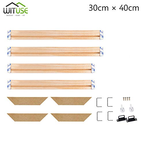 """WITUSE Wood Stretcher Bars Painting Canvas Wooden Frame for Gallery Wrap Oil Painting,Needlepoint Stretcher Bars DIY,Canvas Mounting Frames-12""""x16"""""""