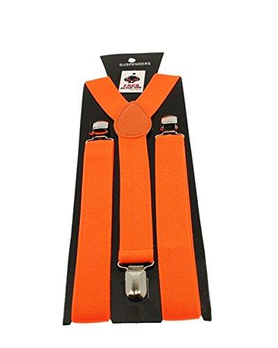 ZAC Alter Ego Bretelles ajustables unisexes Uni Largeur 25mm  -  orange -