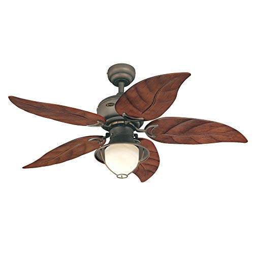 Westinghouse Lighting 7236200 Oasis Indoor Ceiling Fan with Light, 48 Inch, Oil Rubbed Bronze