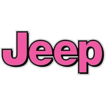 Amazon Com 1064 Jeep Logo With Pink And Black Border 2