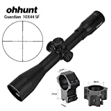 ohhunt Guardian 10X44 SF Hunting Riflescopes Side Parallax Turrets Lock Reset Fixed Magnification 10X Scope (oh-GD10X44SF with Dovetail Rings)