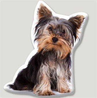 Funda de cojín en forma de Yorkshire Terrier Homestreet - Calidad de perro cojines