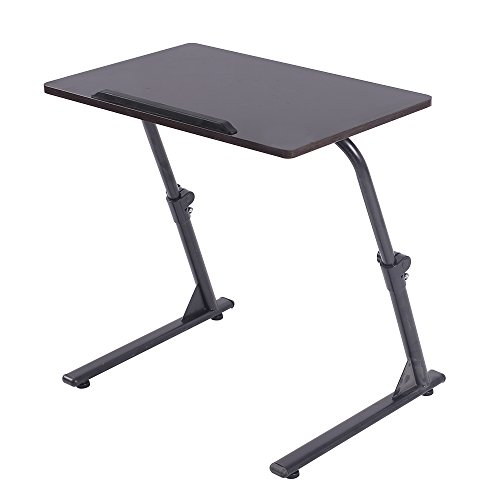 soges Small Laptop Desk Folding Laptop Table Notebook Stand Sofa Side Table for Living Room, 31.5L x 15.7W inches, Black