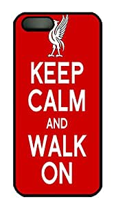 iPhone 5 5S Case Keep Calm and Walk On Quotes PC Custom iPhone 5 5S Case Cover Black