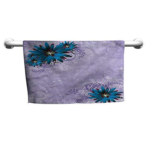 (alisoso Floral,Bath Sheet Graphic Ornament Flowers W 28