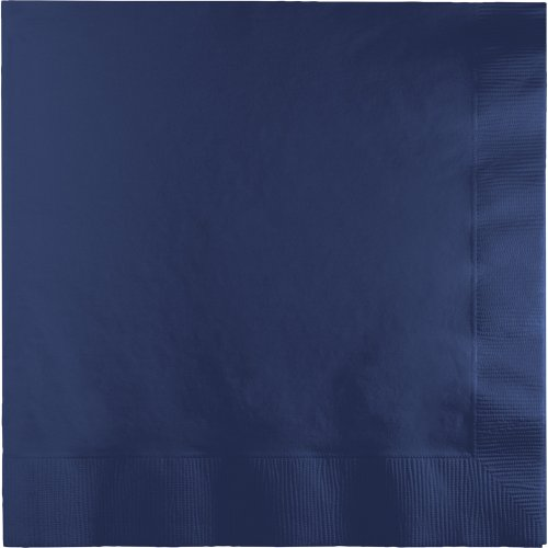 Creative Converting 500-Count Touch of Color 3-Ply Paper Lunch Napkins, Navy - -