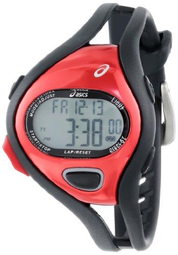 Asics Unisex CQAR0506 Entry Black Red Digital Running Watch