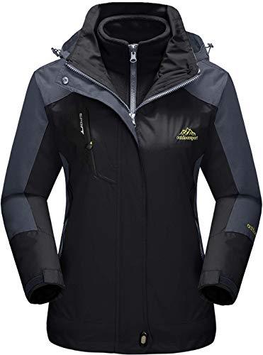 TACVASEN Women's 3-in-1 Jackets Waterproof Fleece Jacket Outdoor Skiing Snowboarding Coat