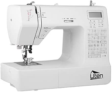 Portable Sewing Machine Computerized Embroidery Sewing Machine with 200 Unique Built-in Stitch and eight Buttonholes