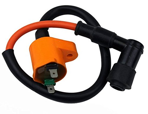 HIGH PERFORMANCE IGNITION COIL for SPARK PLUG 50-250CC GY6 4 STROKE SCOOTER MOPED ATV GO KART DIRT BIKE - BMS PEACE VIP TAOTAO ROKETA SUNL JMSTAR JONWAY ZNEN