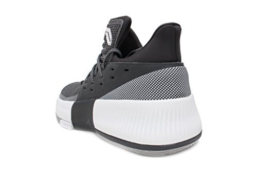 Adidas Dame 3 Scarpe Da Uomo Grigio Pallacanestro Grigio / Bianco / Grigio Scuro
