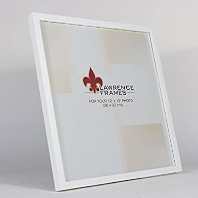 Lawrence Frames 755812 White Wood Picture Frame, 12 by 12-Inch