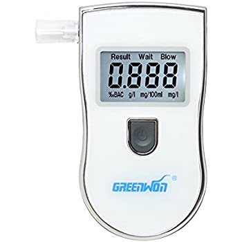 GREENWON Professinal Digital Alcohol Tester Detector Breathalyzer backlight with Alarm Alert