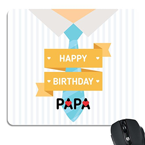 Yaya Cafe Printed Mousepad for Laptop PC Happy Birthday Papa