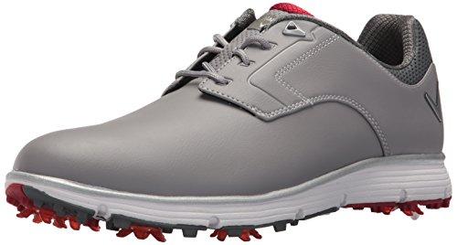 Callaway Men's Lajolla Golf-Shoes, Grey/Red, 10 D D US