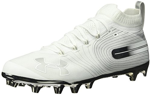 Under Armour Men's Spotlight MC Lacrosse Shoe, (100)/White, 11