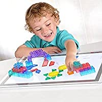 Constructive Playthings Toys Ultra Bright LED Light Panel, Interactive Flat Panel Light Fixture