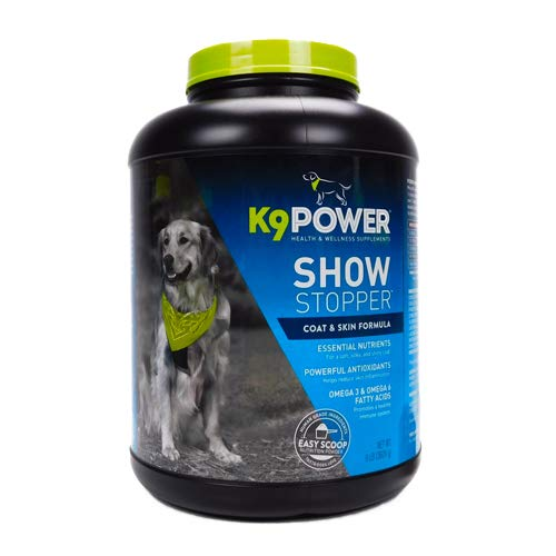K9-Power Show Stopper - Healthy Dog Coat and Skin Formula to Improve Health and Appearance - 8 Pound