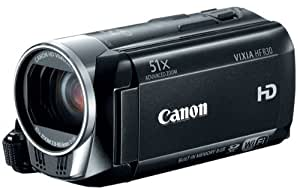 Canon VIXIA HF R30 Full HD 51x Image Stabilized Optical Zoom Camcorder Wi-Fi Enabled with 8GB Internal Drive Dual SDXC Card Slots and 3.0 Touch LCD (Discontinued by Manufacturer)