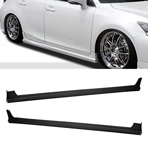 TC Sportline BO-LECT112542 Type-Sport Add-On Polyurethane PU Side Skirt Spoiler for 2011-2016 Lexus CT200h