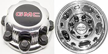 Set of Four 16 Inch OEM Chevy HD Chrome Plated Center Caps Hubcaps Wheel Covers 1999-2010 # 5079 15039489 15039488 9597169 and//or 9597170 Silverado Avalanche Suburban 2500 3500 Pickup Truck Suv 7.75