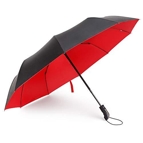 Travel Umbrella Windproof Double Canopy Vented Windproof, Waterproof Auto Open/close Umbrellas,Extra Large Oversize Travel Umbrella,Double Layer Anti-UV Umbrella. by XDSheng