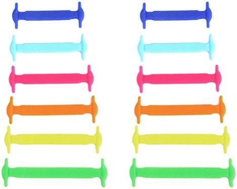 UEETEK No conjunto de 12pcs cordón elástico de silicona de corbata ...