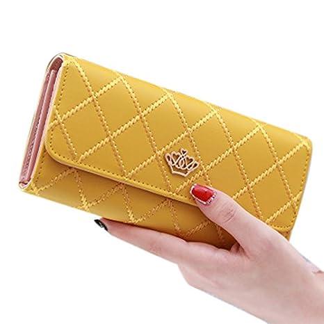LEORX Las mujeres elegantes niñas PU larga cartera monedero embrague bolso carteras de bloqueo: Amazon.es: Bricolaje y herramientas