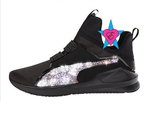 tout neuf b6868 f964d Amazon.com: Custom Crystal Sparkle Glitter Black Puma Fierce ...