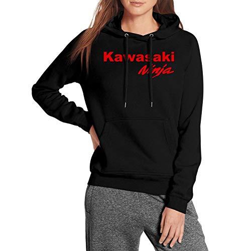 CUSOUL Women Girls Hooded Sweatshirt Kawasaki-Ninja-Motorcycle-Logo- Fleece Long Sleeve Pullover