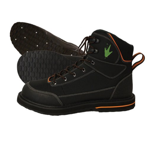 Ultralight Wading Shoe (Frogg Toggs Kikker Guide Studded Wading Shoe, 12, Onyx Black)