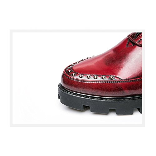 Mode en Occasionnels Jeunes Chaussures Dentelle Respirant LYZGF Cuir Red Affaires Hommes Gentleman nw8z5B5xIq