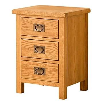 Strange Lanner Oak Bedside Table 3 Drawer Bedside Chest Oak Bedroom Furniture Home Interior And Landscaping Ponolsignezvosmurscom