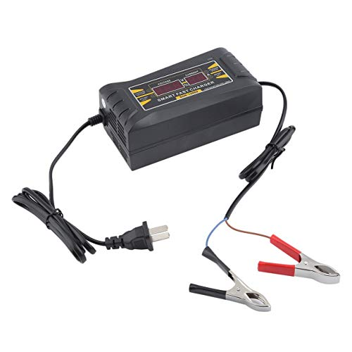 Fast Lead-Acid Battery Charger for Car 12V 6A Motorcycle Smart Charger LCD Display Automatic Charging Device US Plug