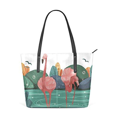 Bags Top Large Handbags Bennigiry Purse Women's Tote Flamingo Shoulder Satchel Handle ZFxA8Sq