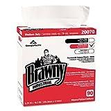 Brawny Industrial 20070-03 Medium-Duty Premium Wipes, 9.25 x 16.38, White, 90-Box