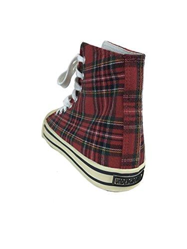 Ankle Uw 210 Boots Canvas Red 006 Underground England Tartan 0q5gg