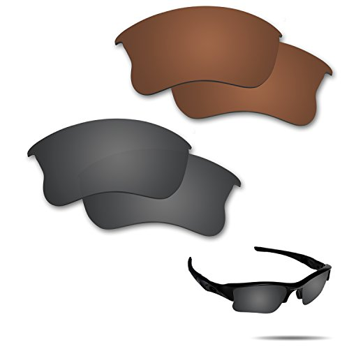 2bd0b0a12b6e4 Fiskr Anti-saltwater Polarized Replacement Lenses for Oakley Flak Jacket  XLJ Sunglasses 2 Pairs Packed