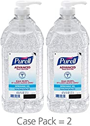 PURELL Advanced Hand Sanitizer, Refreshing Gel, 2 Liter Hand Sanitizer Table Top Pump Bottles (Pack of 2) - 96