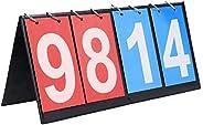 Rehomy Scoreboard Score Keeper - 2/3/4 Digit Portable Tabletop Score Flipper for Basketball Tennis Sports