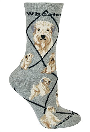 Wheel House Designs Women's Wheaten Terrier Socks 9-11 Gray