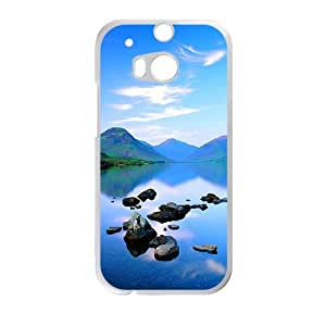 Personalized Creative Cell Phone Case For HTC M8,glam blue sky and river wangjiang maoyi