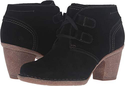 CLARKS Women's Carleta Lyon Boot, Black Suede, 9 M US (Suede Black Boots Women For)